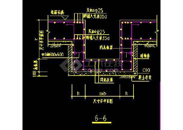 地下室底板集水井及集水沟cad大样图-图3