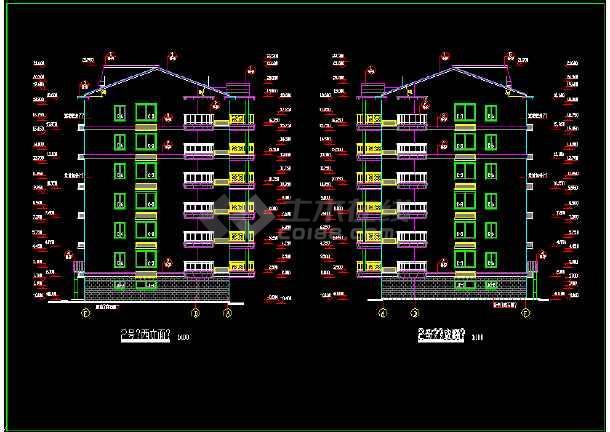 某市区小区多层住宅设计CAD图纸-图3
