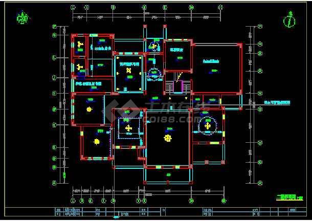 简洁三层别墅建筑cad设计装饰装修图-图2