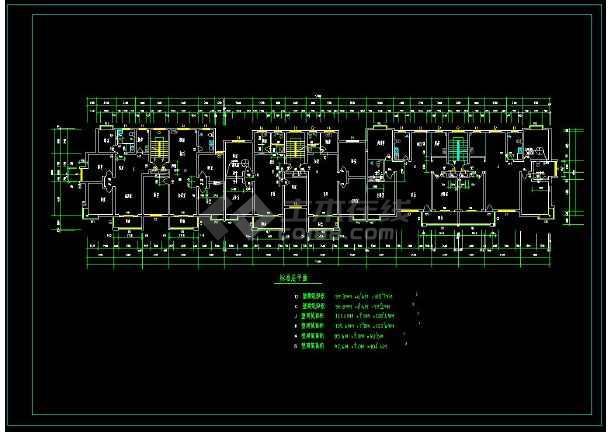 某地小区多层住宅建筑CAD平面施工图-图2