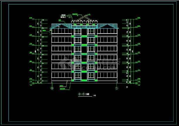 某小区多层住宅建筑方案设计CAD图-图1