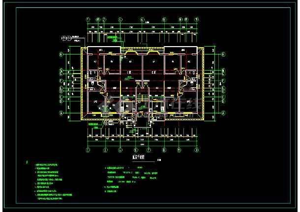某小区多层住宅建筑方案设计CAD图-图2