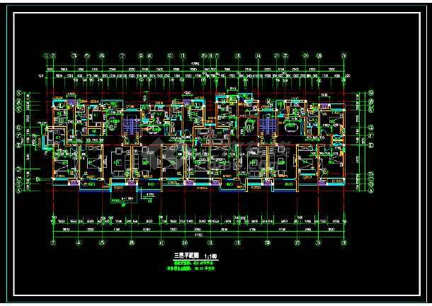 某城市联体别墅小区CAD建筑施工图-图1