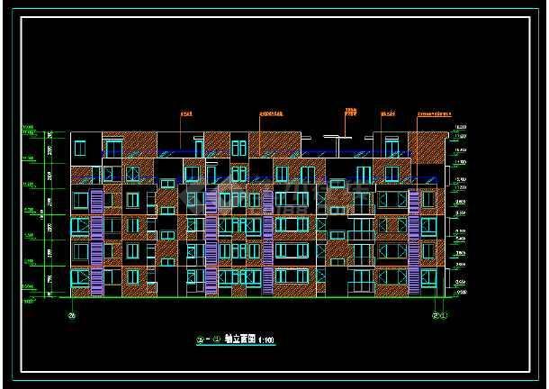 某城市联体别墅小区CAD建筑施工图-图2