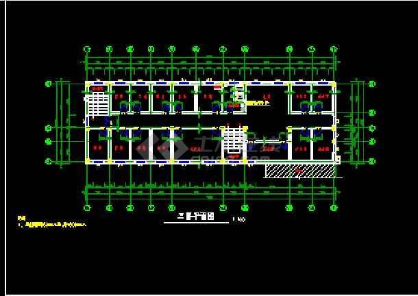 某监狱综合办公楼框架结构CAD建筑施工图纸-图1