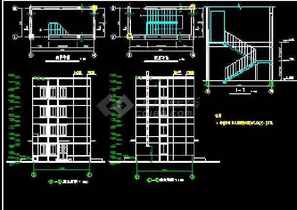 某监狱综合办公楼框架结构CAD建筑施工图纸-图2