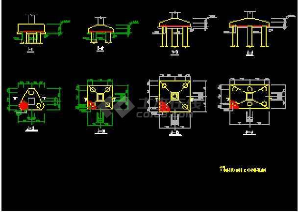 某监狱综合办公楼框架结构CAD建筑施工图纸-图3