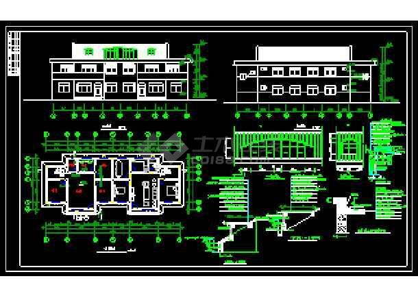 某农村住宅经典建筑CAD施工设计图-图1