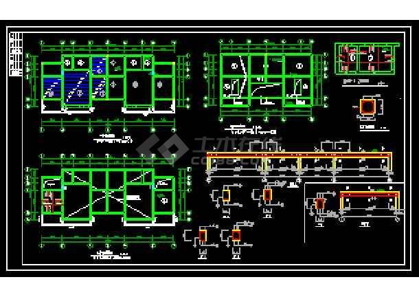 某农村住宅经典建筑CAD施工设计图-图2
