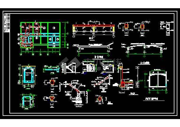 某农村住宅经典建筑CAD施工设计图-图3
