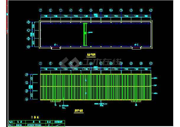 苏内某厂房建筑结构CAD施工设计图纸-图1