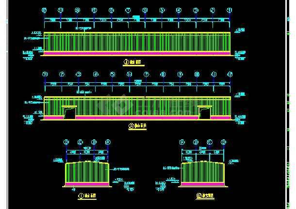 苏内某厂房建筑结构CAD施工设计图纸-图2