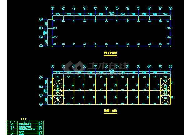 苏内某厂房建筑结构CAD施工设计图纸-图3