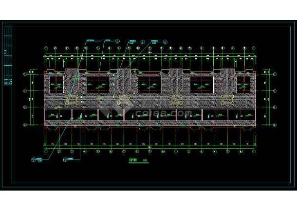 某小区精美多层住宅建筑方案设计CAD施工图-图3