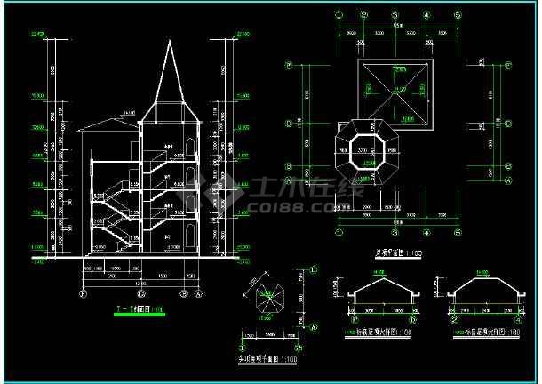 某城市复式别墅小区CAD设计施工图(内含设计说明)-图1