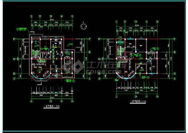 某城市复式别墅小区CAD设计施工图(内含设计说明)-图2