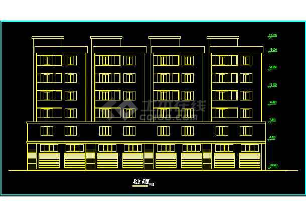 某地一处经典的住宅楼CAD建筑平面图-图1