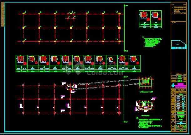 某公司1#车间土建结构CAD设计施工图纸-图1