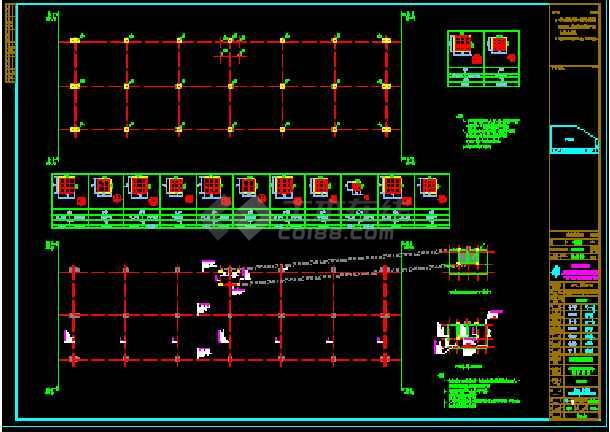 某公司1#车间土建结构CAD设计施工图纸-图2