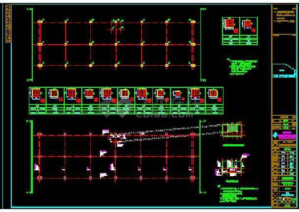 某公司1#车间土建结构CAD设计施工图纸-图3