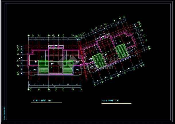 某地多层住宅建筑设计CAD标准层平面图-图2