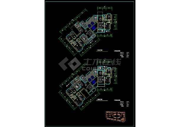 某高档住宅楼盘项目户型方案设计CAD图-图1