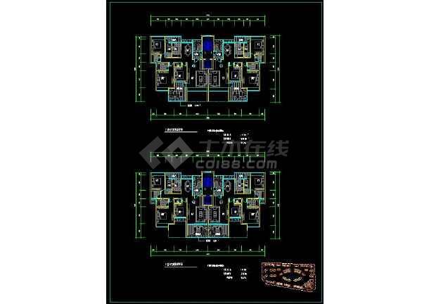 某高档住宅楼盘项目户型方案设计CAD图-图2