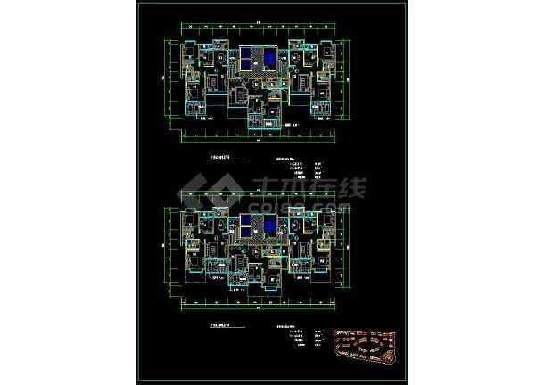 某高档住宅楼盘项目户型方案设计CAD图-图3