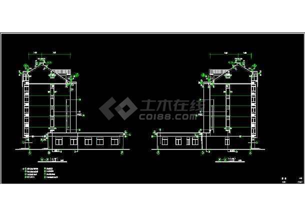 某市区多层商住楼CAD建筑施工图纸-图2