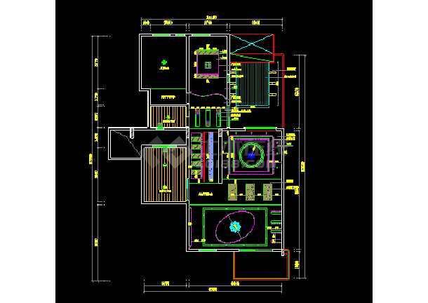 简洁别墅建筑cad室内装修装饰施工图-图1