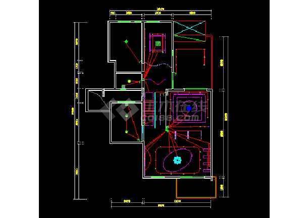 简洁别墅建筑cad室内装修装饰施工图-图2