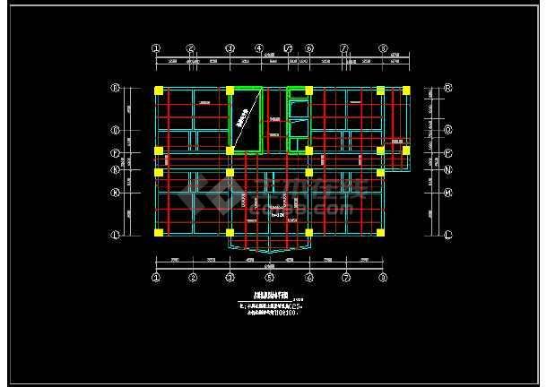 某市区宾馆高层建筑CAD详细图纸-图1