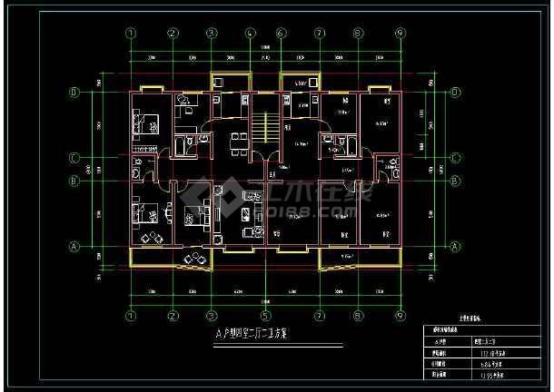 某住宅楼盘项目户型方案设计CAD图-图1
