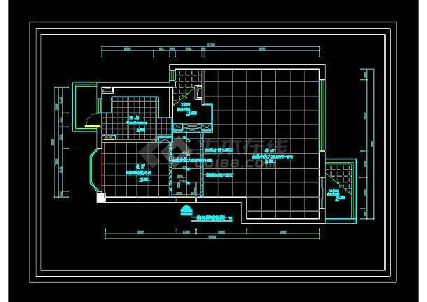 某现代三层别墅cad设计室内装修图-图1