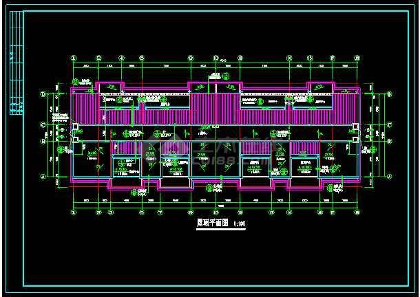 某一典型住宅建筑的CAD平立剖图-图1