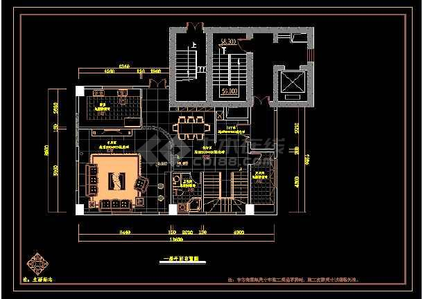 厦门某三层空中颜色cadv颜色室内装修图cad设置字体别墅图片
