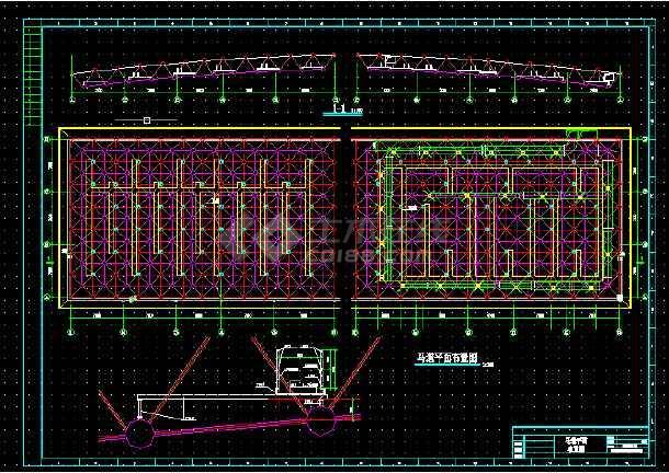 某体育馆建筑设计全套图纸CAD代表lt方案钢构图纸什么图片