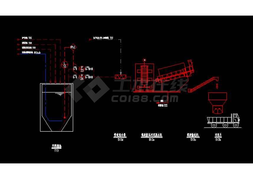 某工业废水工艺流程PID设计CAD图-图3