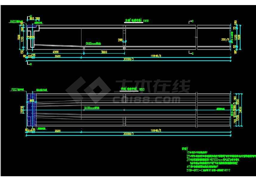 市政高架转体桥结构设计施工图纸-图2