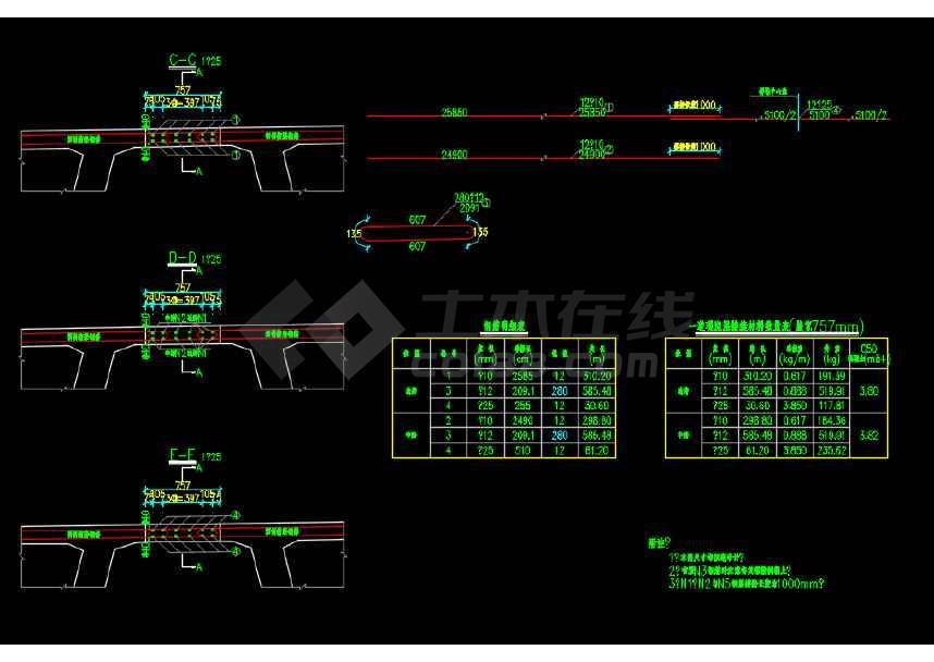 市政高架转体桥结构设计施工图纸-图3