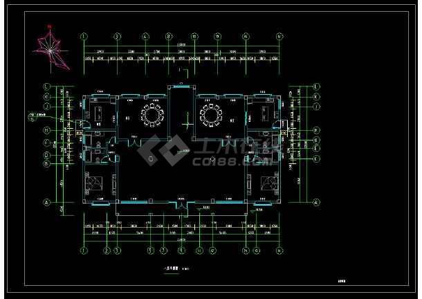 某别墅三层私宅乡镇建筑设计CAD施工图(含设装修图纸写字楼图片