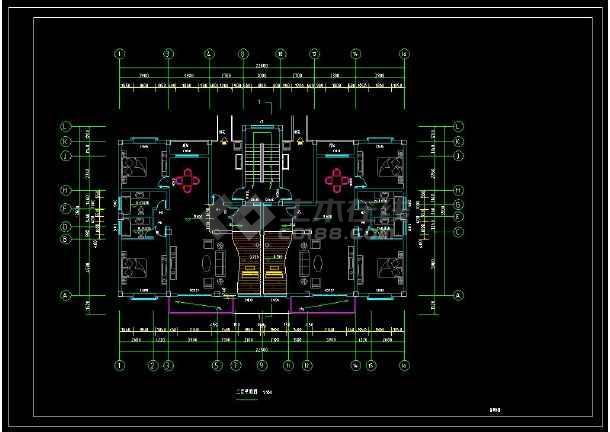 某私宅三层乡镇别墅建筑设计CAD施工图(含设v私宅剖面图图纸图片