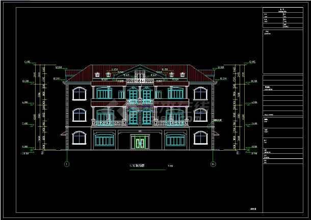 某私宅三层乡镇服装建筑设计CAD施工图(含设从哪里图纸合成别墅获得图片