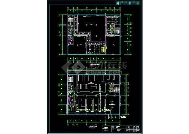 一套完整大楼给排水cad结构施工图(含设计说明)-图2