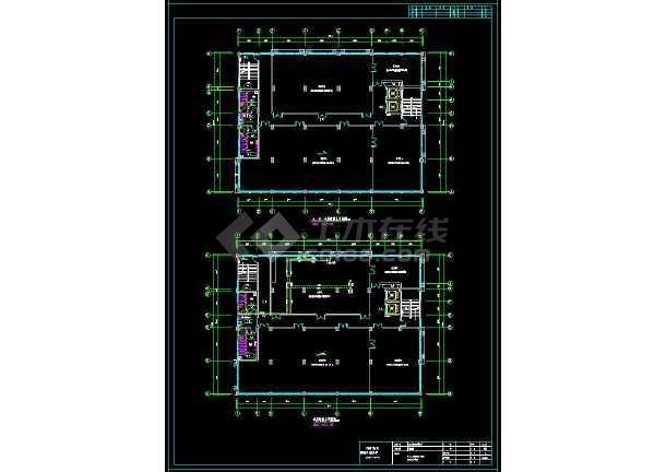 一套完整大楼给排水cad结构施工图(含设计说明)-图3