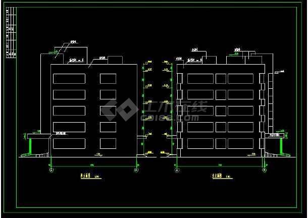 某五层精神病院建筑方案设计cad扩初图天津室内园林设计公司图片