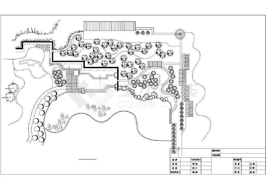 某地小型公园园林规划设计图(共3张)图片