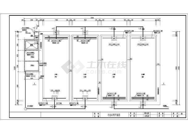 人工湿地工艺日处理120方生活污水CAD施工图(含设计说明)-图2
