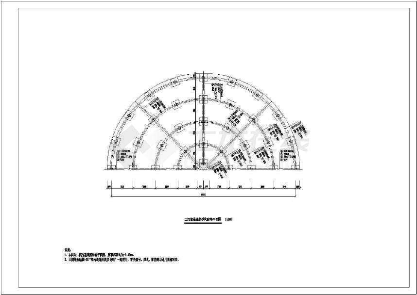 污水处理厂二沉池结构设计cad图纸-图1