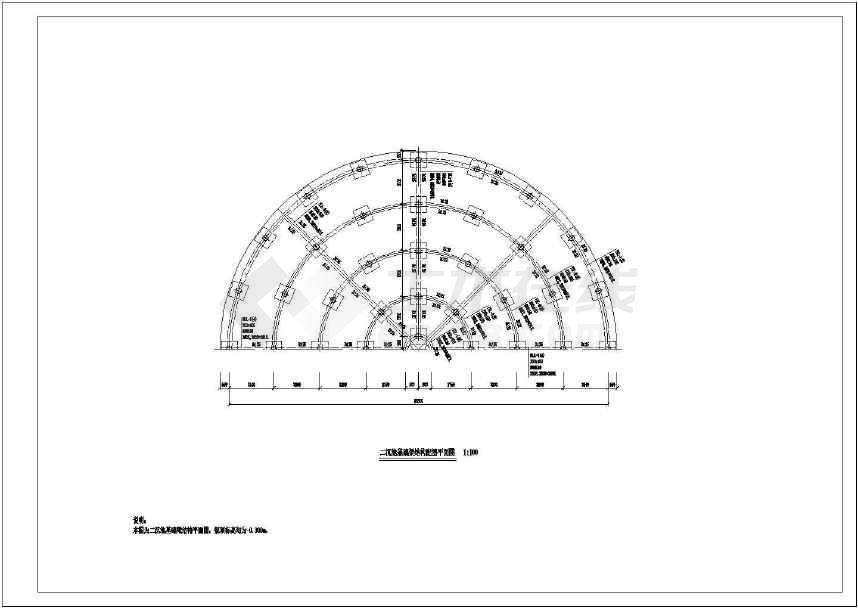 污水处理厂二沉池结构设计cad图纸-图3